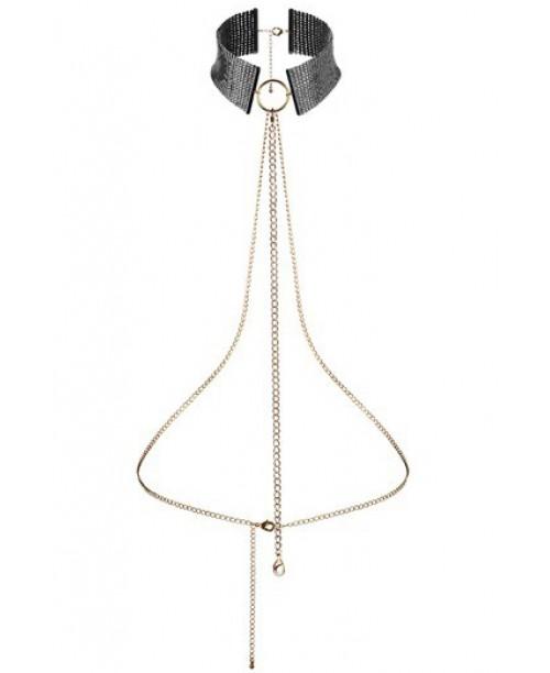 Bijoux Metallic Collar Negro