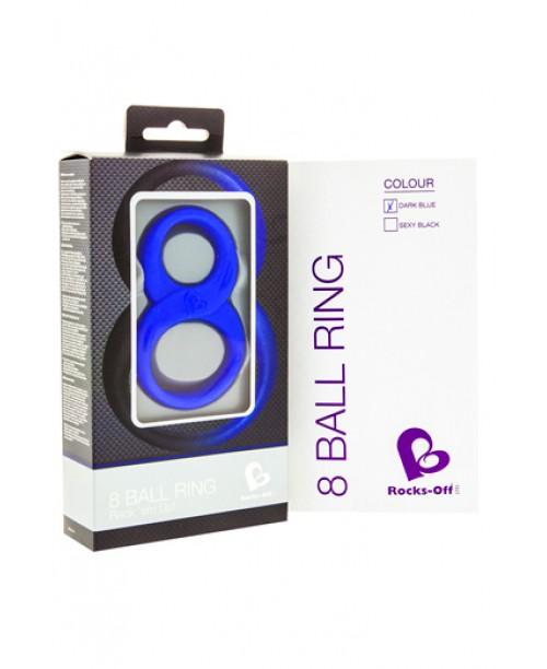 8 Ball Ring Azul