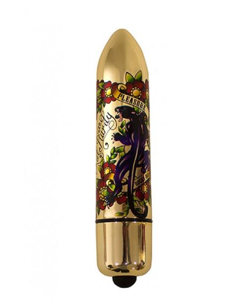 RO-120 Gold Metallic Tatoo 10 Speed - Pleasure Me Panther