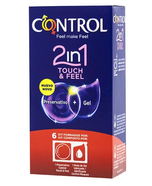 2 en 1 Touch & Feel + Lube 6 uds