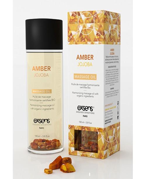 Massage Oil With Organic Ingredients And Stones Amber Jojoba 100 ml.