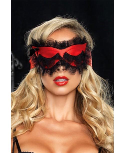 Máscara Satén Roja