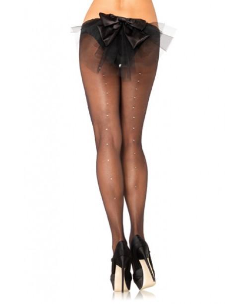 Panty Lisa C/ Brillos Detras Negra