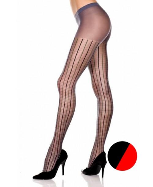 Pantys Cuadros Rojo/Negro