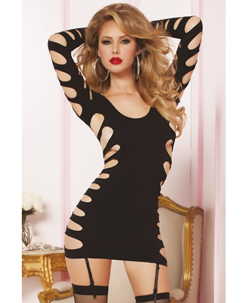 Flashy Cage Seamless Dress Negro T.U